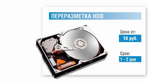 Замена винчестера ноутбука в Минске